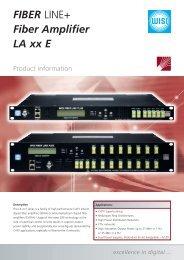 FIBER LINE+ Fiber Amplifier LA xx E - WISI - Wilhelm Sihn AG