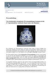 Pressemitteilung Vier bedeutende europäische ... - Nagel Auktionen