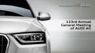 Presentation Rupert Stadler Part 1 - Audi