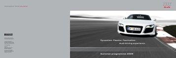 Summer programme 2009 - Audi