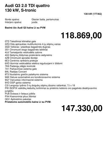 Komplektacija (63 kB) - Audi