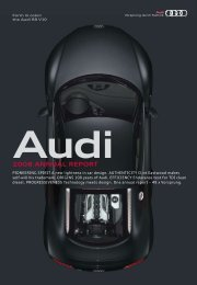 2008 Annual Report, Magazine Part (12 MB) - Audi