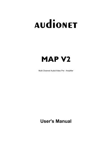 manual MAPV2 eng - Audionet