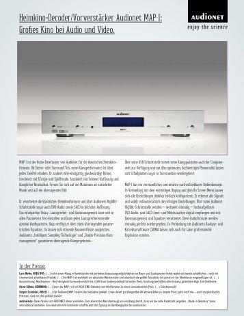 Heimkino-Decoder/Vorverstärker Audionet MAP I: Großes Kino bei ...