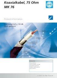 Produktinfo MK76 / MK76B - WISI - Wilhelm Sihn AG