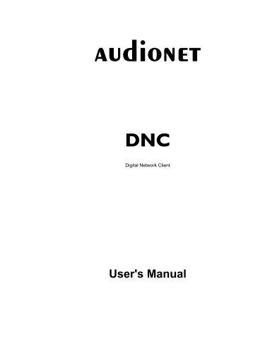 Download User's Manual - Audionet