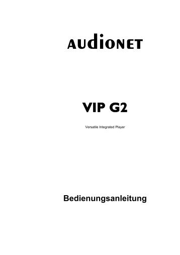 manual VIP G2 ger  - Audionet