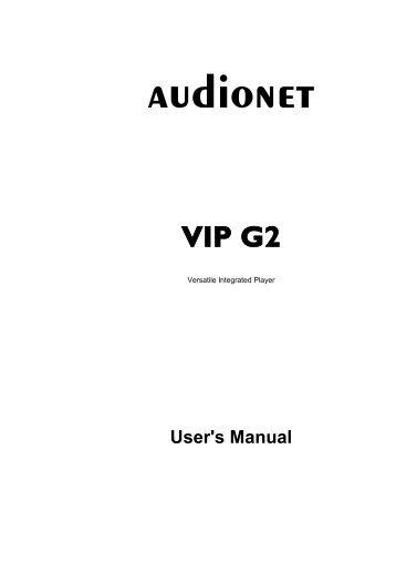 manual VIP G2 eng - Audionet