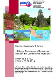 Mexiko, Guatemala & Belize 13-tägige Reise zu den Spuren der ...