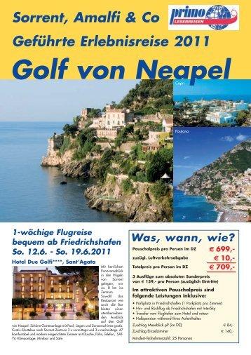 Golf von Neapel - Reisebüro Meersburg