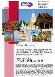 Thailand - Reisebüro Meersburg