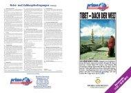 Tibet - Das Dach der Welt - 3*** und 4 - Reisebüro Meersburg