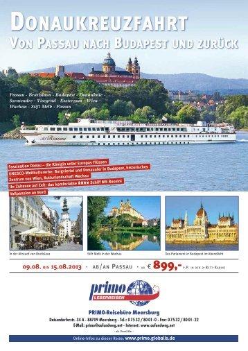 Faszination Donau MS Rossini 4**** VP - Reisebüro Meersburg