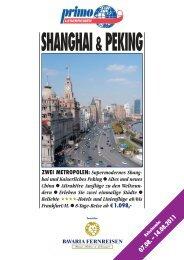 ZWEI METROPOLEN: Supermodernes Shang - Reisebüro Meersburg
