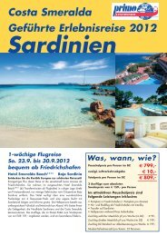 Sardinien - Standortrundreise an der Costa Smeralda - Reisebüro ...