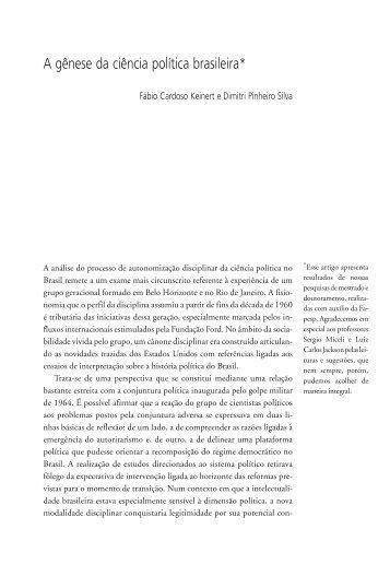 A gênese da ciência política brasileira* - fflch - USP