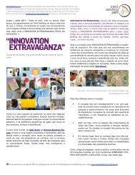 Junho / Julho 2011 INNOVATION EXTRAVAGANZA - Trendwatching