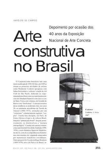 Arte construtiva no Brasil - USP