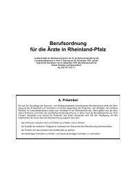 Berufsordnung für die Ärzte in Rheinland-Pfalz - Augenarzt ...