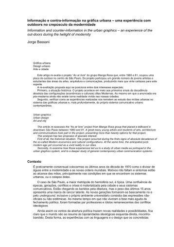 Faça o download da artigo em PDF - Jorge Bassani