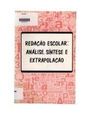 redação escolar análise, síntese e extrapolação