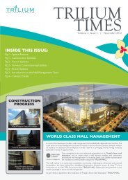TRILIUM TIMES Volume 2, Issue 1 - November 2012