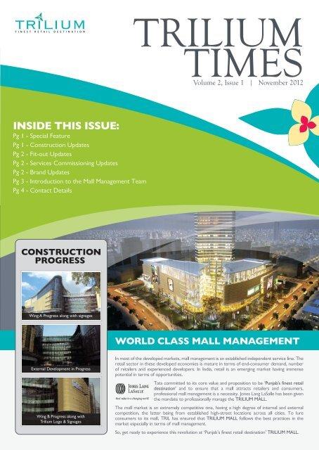 TRILIUM TIMES Volume 2, Issue 1 - November 2012