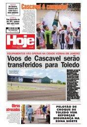 Voos de Cascavel serão transferidos para Toledo - Jornal Hoje