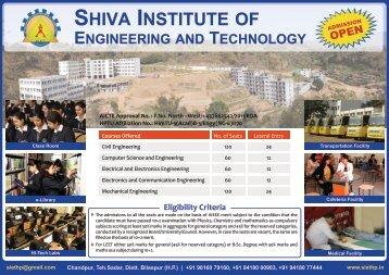 SHIVA INSTITUTE OF - SIET