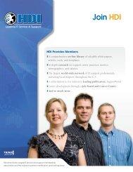 Download 2008 Membership Brochure. - HDI