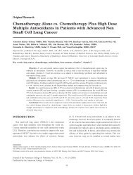 Chemotherapy Alone vs. Chemotherapy Plus High Dose Multiple ...