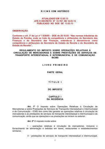 ATUALIZADO EM 18 - Governo da Paraíba