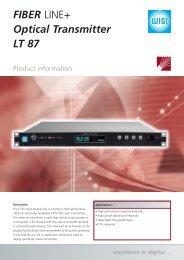 FIBER LINE+ Optical Transmitter LT 87 - WISI - Wilhelm Sihn AG