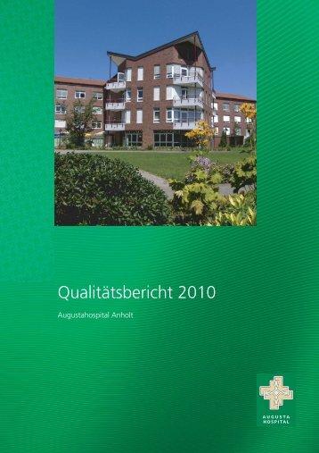Qualitätsbericht 2010 - Augustahospital Anholt