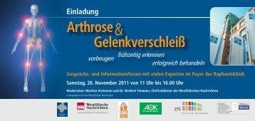 Arthrose Gelenkverschleiß - Raphaelsklinik Münster
