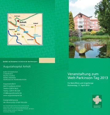 Veranstaltung zum Welt-Parkinson-Tag 2013 - Augustahospital Anholt
