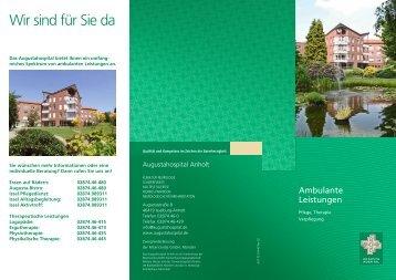 Broschüre ambulante Leistungen - Augustahospital Anholt