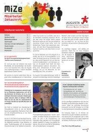 Mitarbeiter Zeitschrift - Augusta Personaldienstleistungen