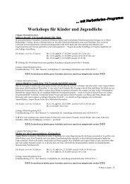 Workshops für Kinder und Jugendliche - August Macke Haus