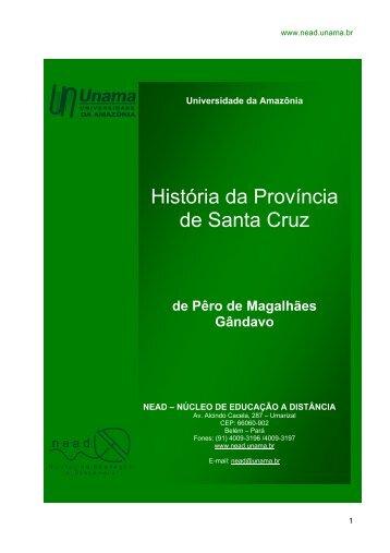 História da Província de Santa Cruz - Unama
