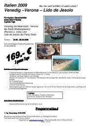 Einladung Venedig 2009 - Au-pair Vermittlung