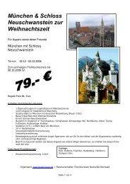 München & Schloss Neuschwanstein zur Weihnachtszeit - Au-pair ...