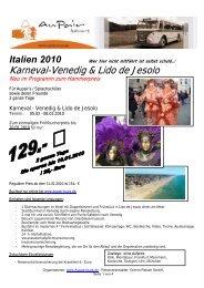 Karneval-Venedig & Lido de Jesolo - Au-pair Vermittlung