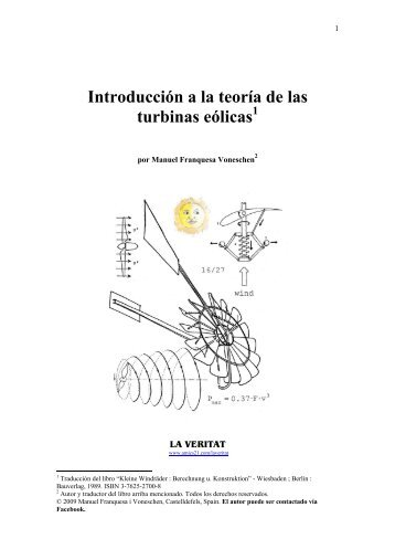 Introducción a la teoría de las turbinas eólicas - Amics 21