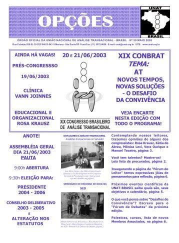 Edição nro. 50 - maio 2003 - União Nacional dos Analistas ...
