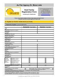 Host-Family-Registration Form - Au-Pair Agentur Dr. Mona Lietz
