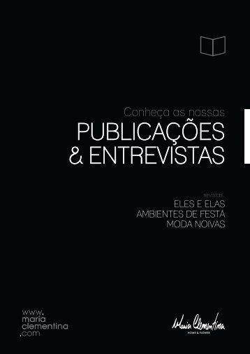 PUBLICAÇÕES & ENTREVISTAS - Maria Clementina