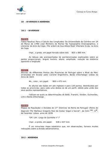1- planisfrios terrestres e celestes - Instituto Geográfico Português