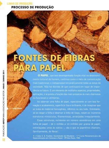 Fontes de Fibras para papel - O Nosso Papel