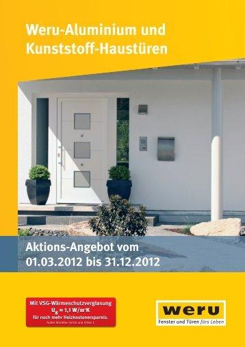Weru-Aluminium und Kunststoff-Haustüren - Schumann.biz
